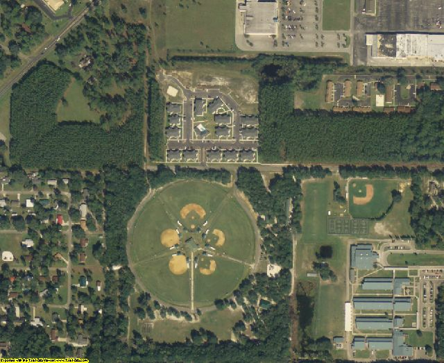 Suwannee County, FL aerial photography detail