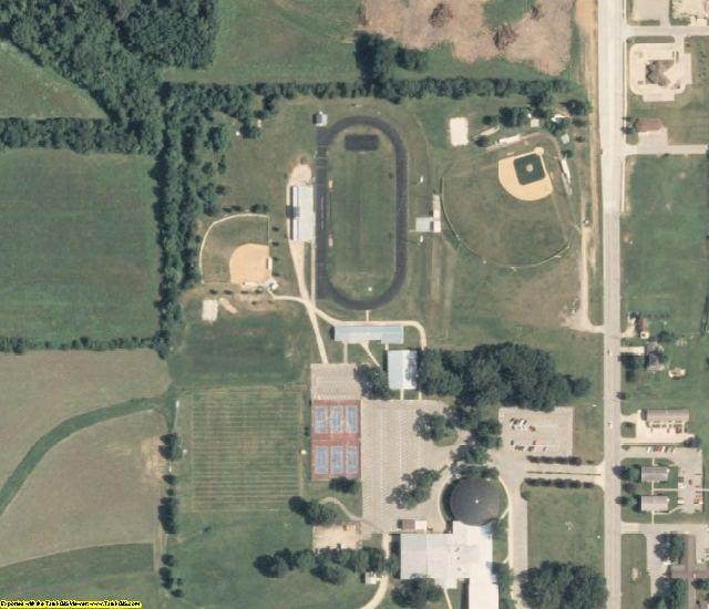 Tama County, IA aerial photography detail
