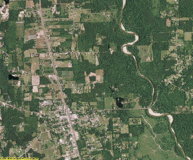 Tangipahoa County, Louisiana aerial photography