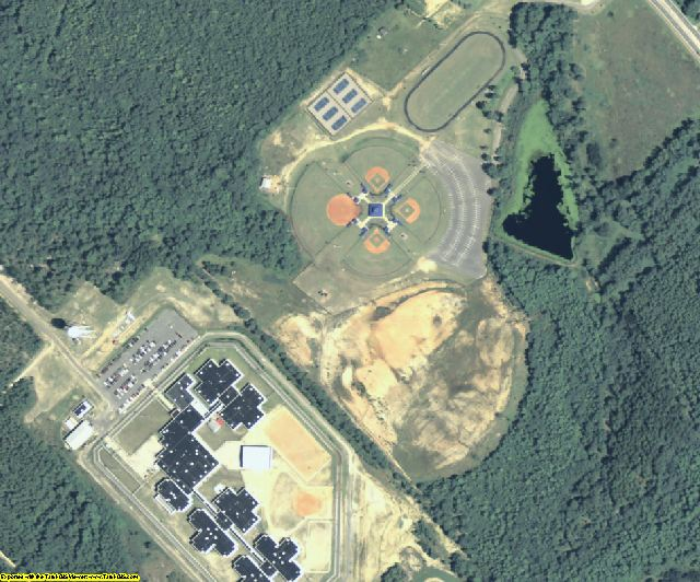 Telfair County, GA aerial photography detail