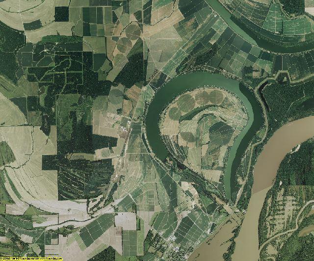 Tensas County, Louisiana aerial photography