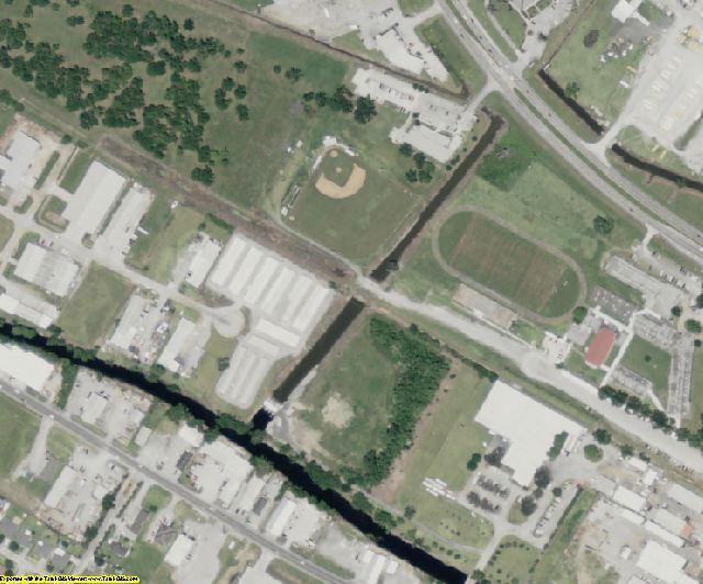 Terrebonne County, LA aerial photography detail
