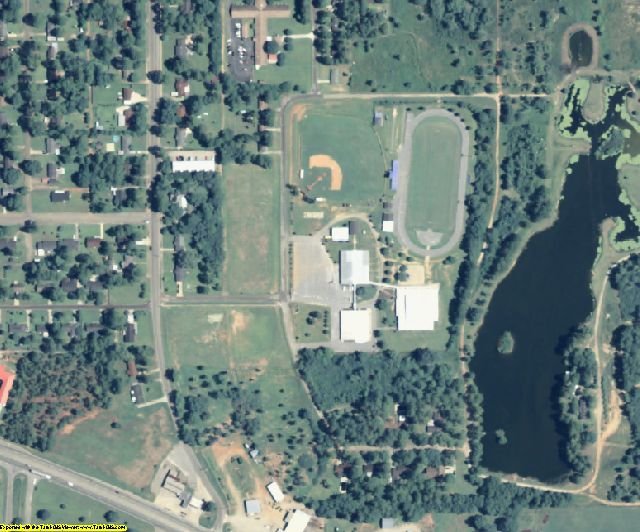 Terrell County, GA aerial photography detail