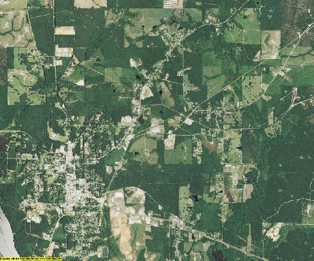 Union County, Louisiana aerial photography