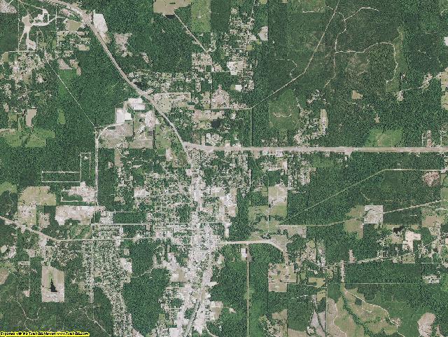 Vernon County, Louisiana aerial photography