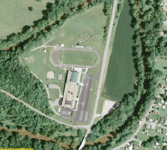 Washington County, OH aerial photography detail
