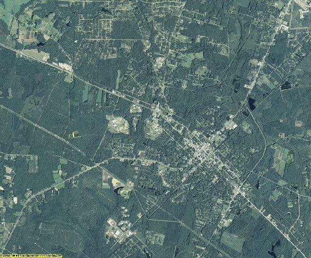 Wayne County, Georgia aerial photography