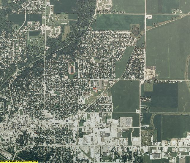 Webster County, Iowa aerial photography