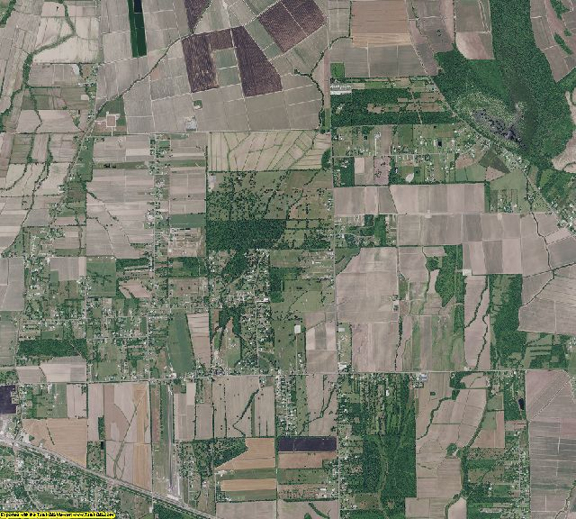 West Baton Rouge County, Louisiana aerial photography