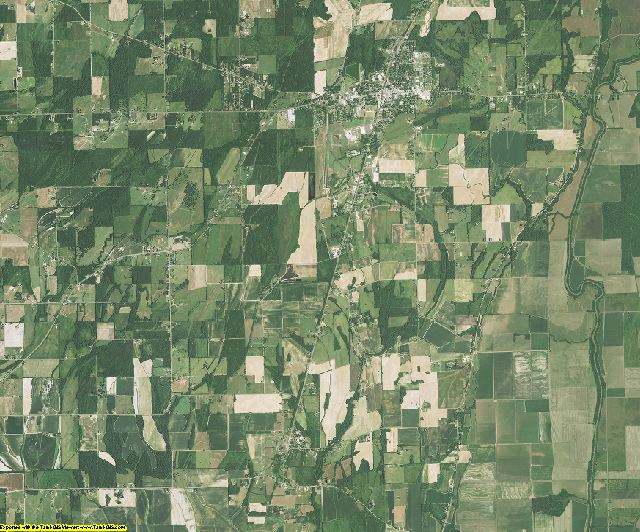 West Carroll County, Louisiana aerial photography