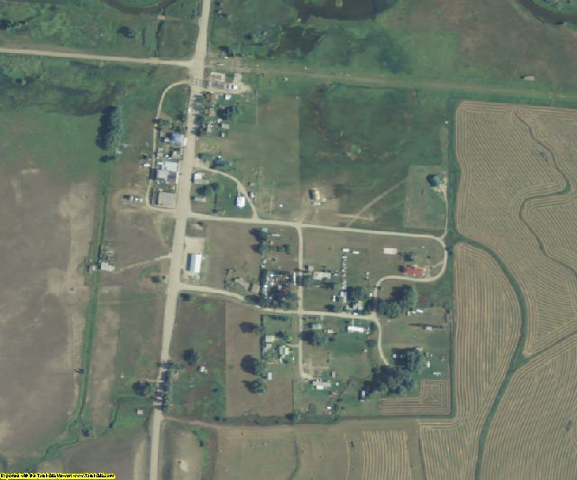 Wheatland County, MT aerial photography detail