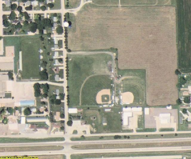 Woodbury County, IA aerial photography detail