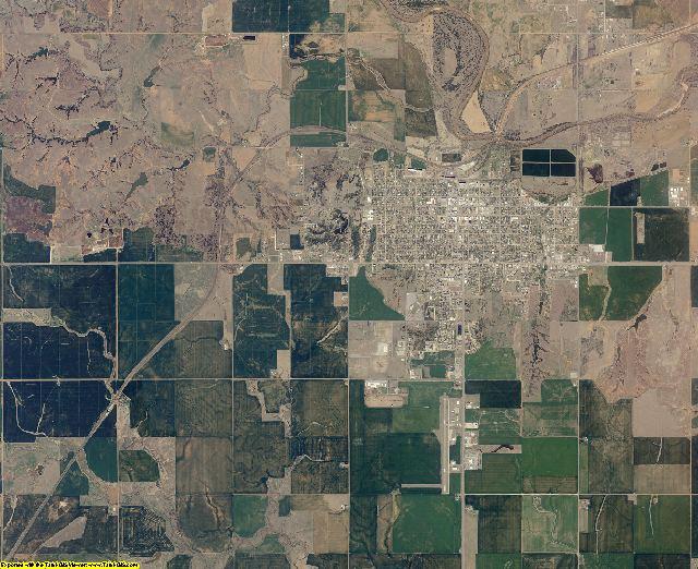 Woods County, Oklahoma aerial photography