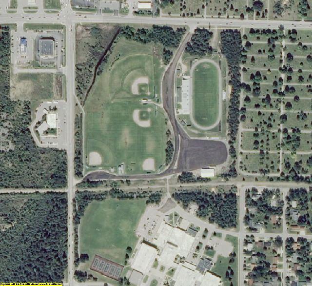 Alpena County, MI aerial photography detail