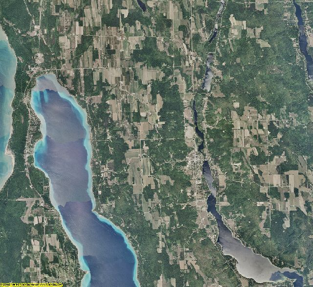 Antrim County, Michigan aerial photography
