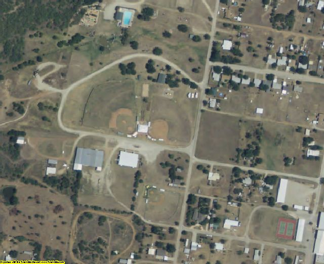Archer County, TX aerial photography detail