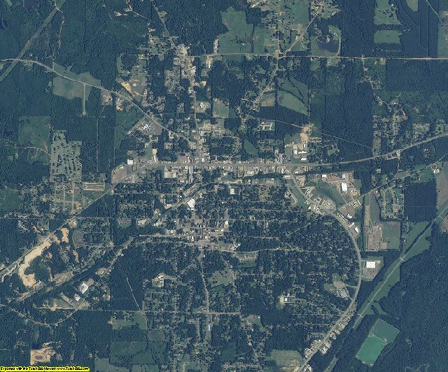 Attala County, Mississippi aerial photography