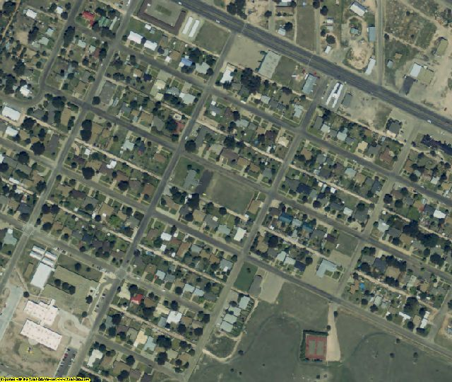 Bailey County, TX aerial photography detail