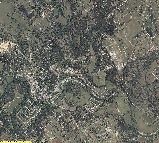 Bandera County, Texas aerial photography