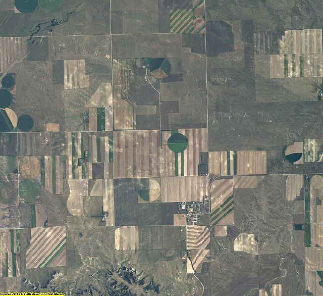 Banner County, Nebraska aerial photography