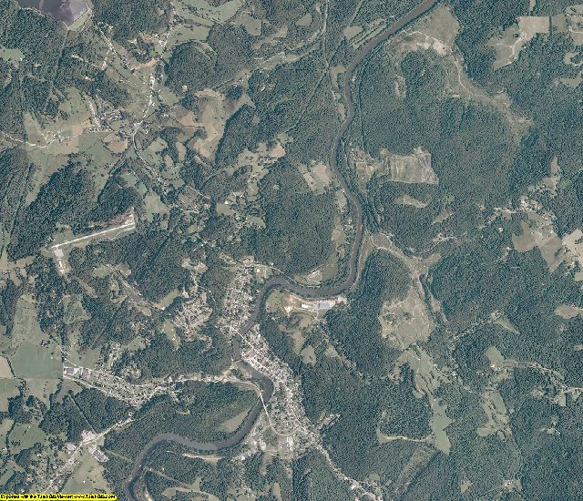 Barbour County, West Virginia aerial photography