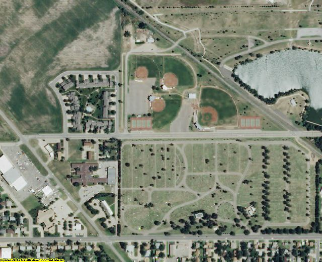 Barton County, KS aerial photography detail