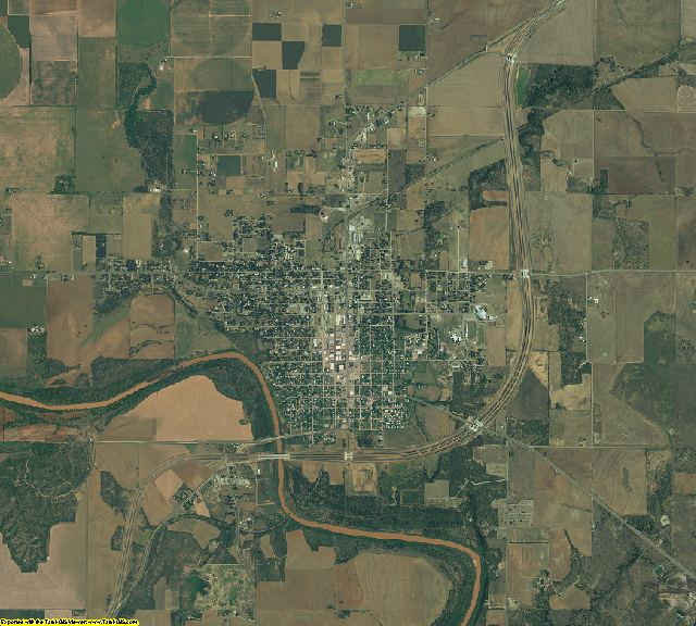 Baylor County, Texas aerial photography