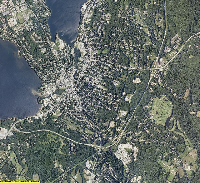 Belknap County, New Hampshire aerial photography