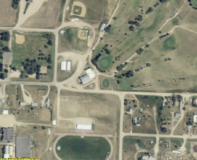 Bennett County, SD aerial photography detail
