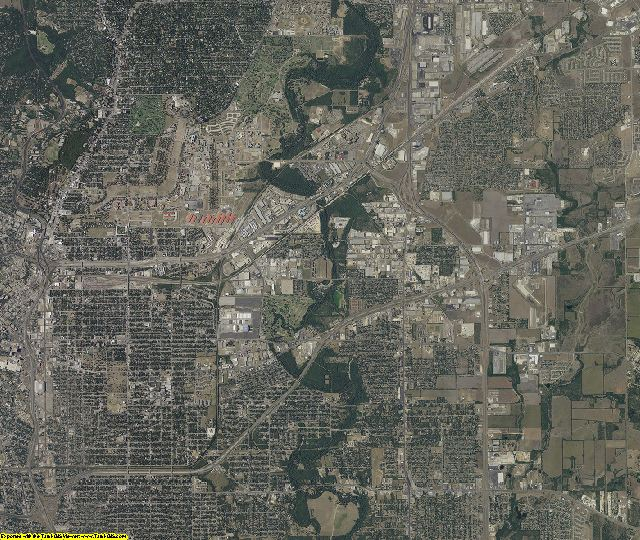 Bexar County, Texas aerial photography