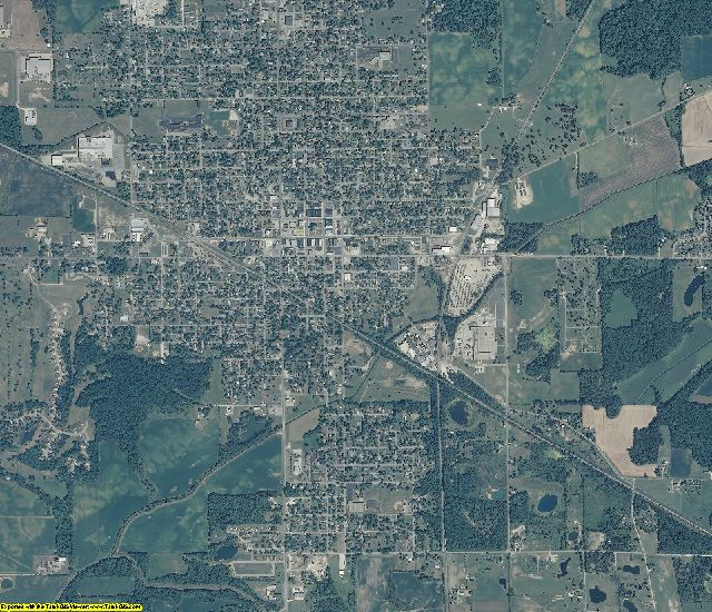 Blackford County, Indiana aerial photography