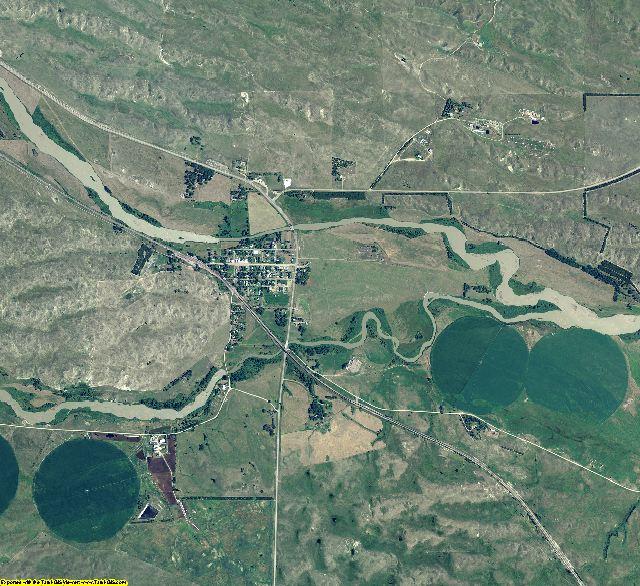 Blaine County, Nebraska aerial photography