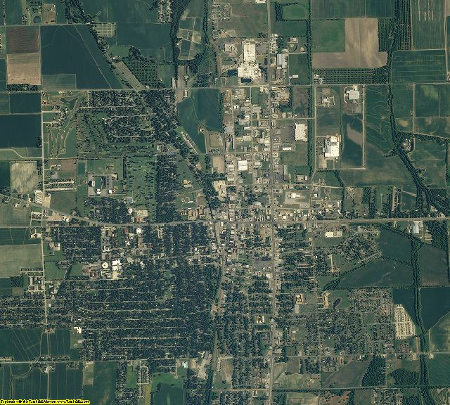 Bolivar County, Mississippi aerial photography