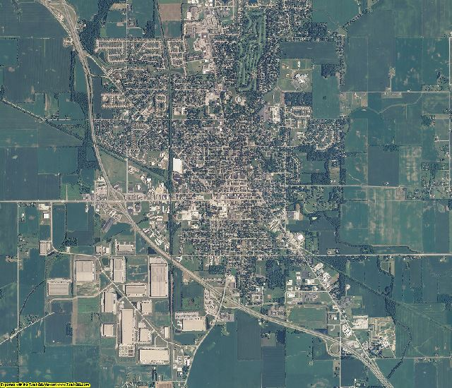 Boone County, Indiana aerial photography
