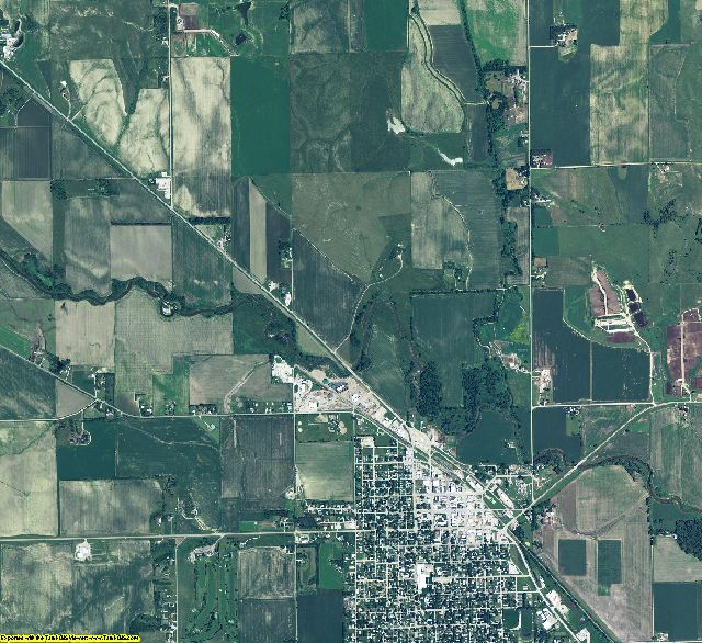 Boone County, Nebraska aerial photography