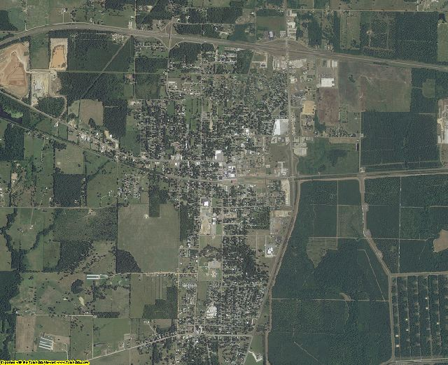 Bowie County, Texas aerial photography