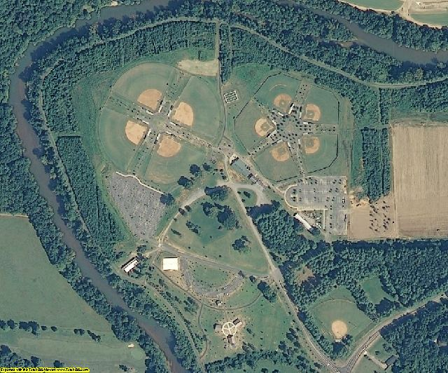 Burke County, NC aerial photography detail