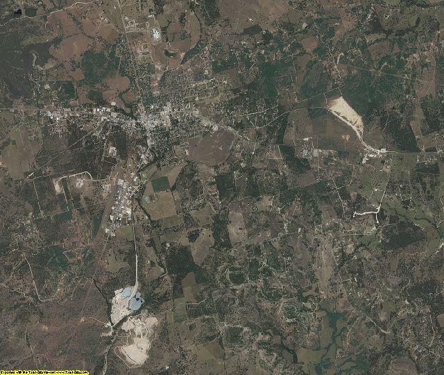 Burnet County, Texas aerial photography
