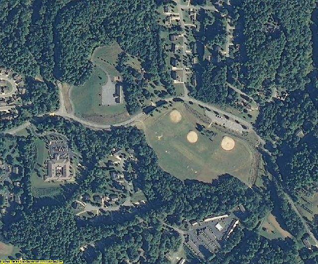 Caldwell County, NC aerial photography detail
