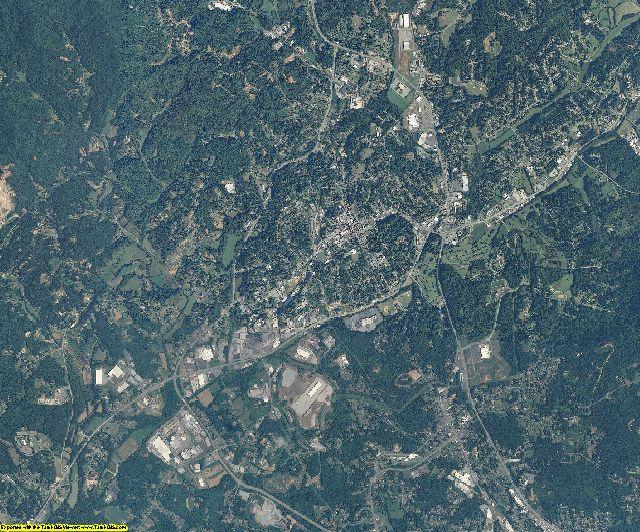 Caldwell County, North Carolina aerial photography