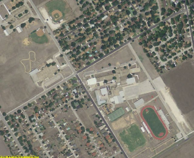 Caldwell County, TX aerial photography detail