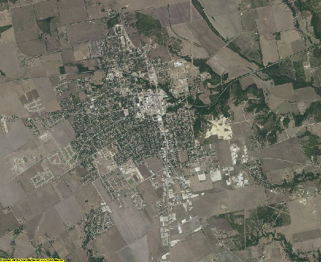 Caldwell County, Texas aerial photography