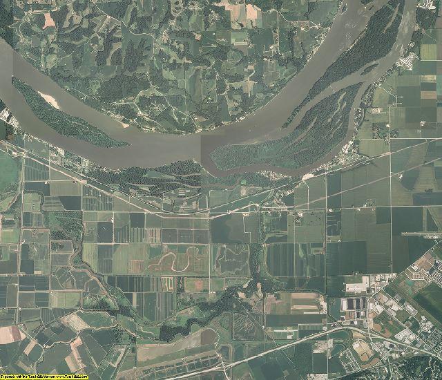 Calhoun County, Illinois aerial photography