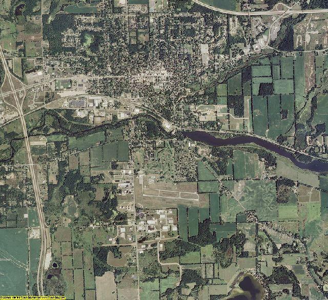 Calhoun County, Michigan aerial photography