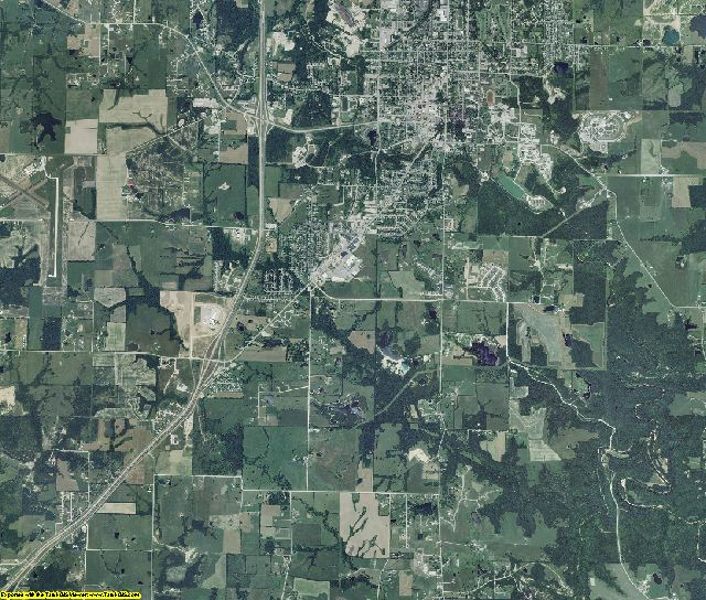 Callaway County, Missouri aerial photography