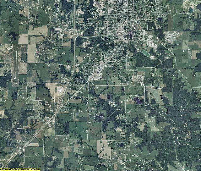 Callaway County, Missouri aerial photography
