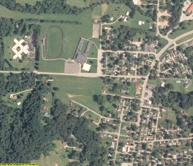 Carroll County, IL aerial photography detail