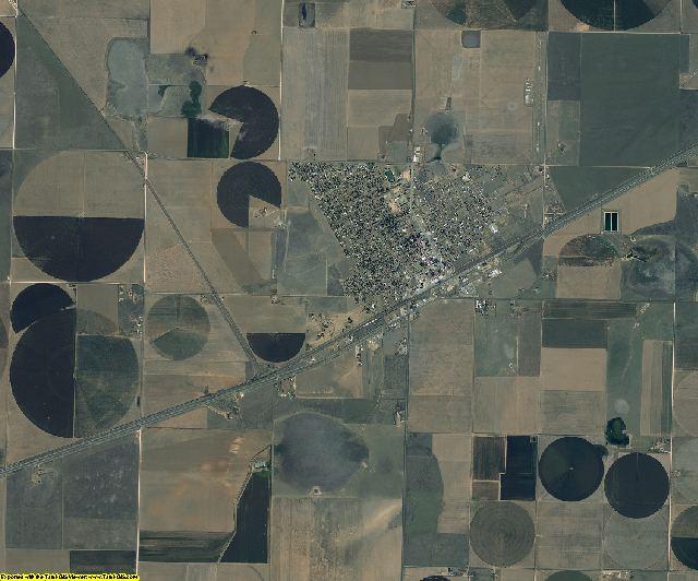 Carson County, Texas aerial photography