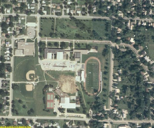Cass County, IA aerial photography detail