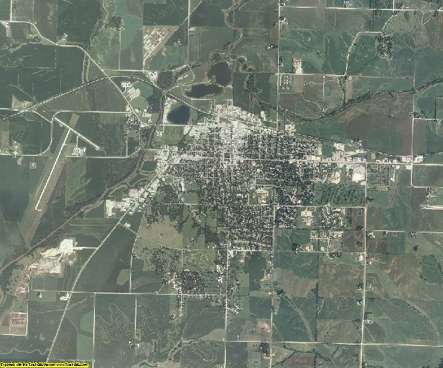 Cass County, Iowa aerial photography